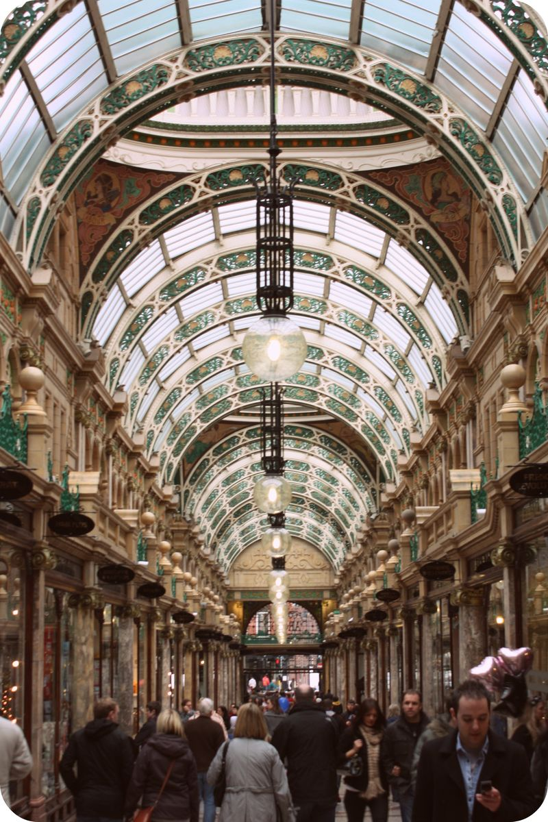Leeds shopping arcade