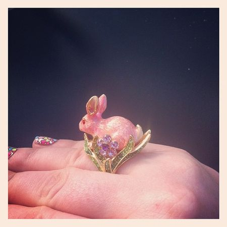 Irregular Choice rabbit ring